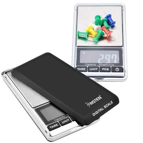 Insten 300g x 0.01g Mini Digital Jewelry Pocket GRAM Scale with Stainless  Steel Salver and