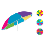 "78"" Oxford Canopy Beach Umbrella, Silver Coated"