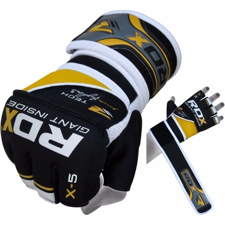 RDX X5 MMA Grappling Gloves Long Straps Fight Sparring Training Punching