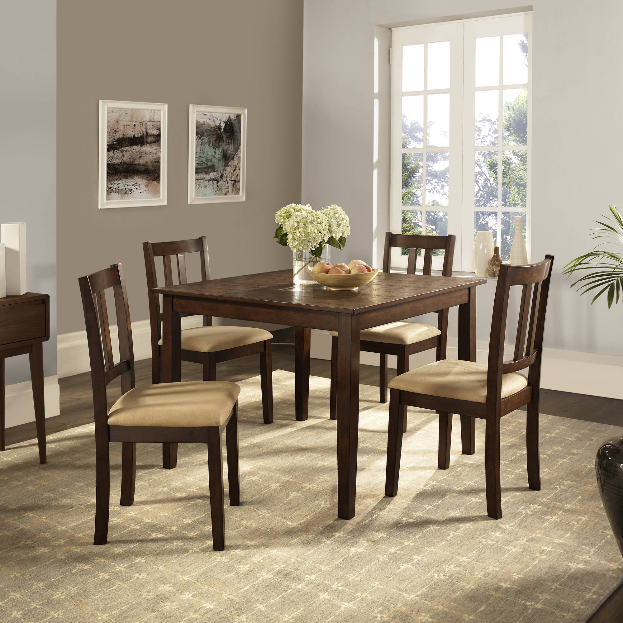 Dorel Home Redmond 5-Piece Traditional Height Dining Set