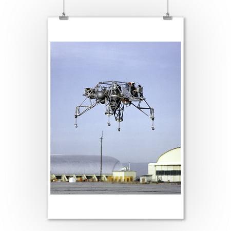 Flight Photo - Lunar Landing Research Vehicle in Flight Photograph (9x12 Art Print, Wall Decor Travel Poster)