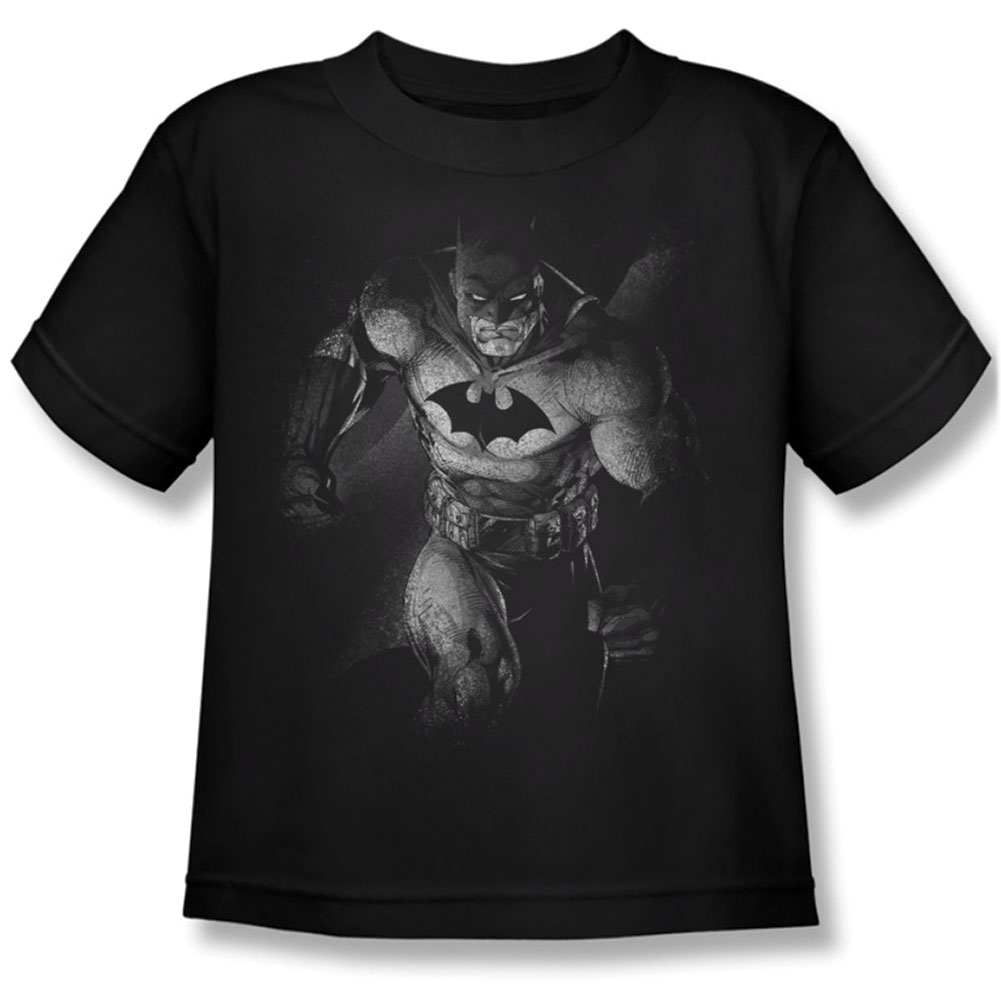 Batman Boys' Materialized Childrens T-shirt Black by Trevco