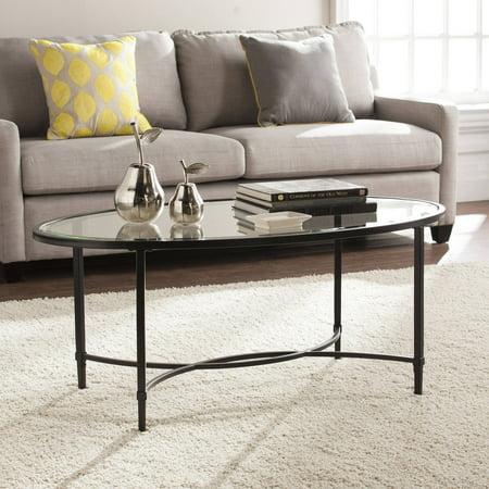 Southern Enterprises Quibilah Metal/Glass Oval Coffee Table ()