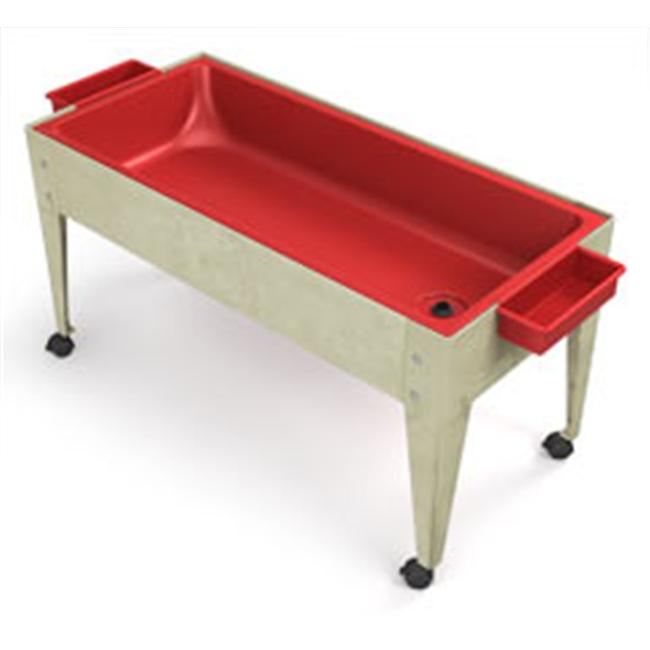 Manta Ray S6424 Red Liner Sand And Water Activity Center with Lid And 4 Casters