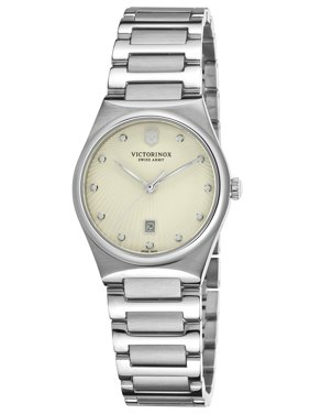 Swiss Army Victoria Stainless Steel Womens Watch Egg Shell Dial Calendar 241513