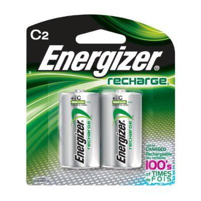 Energizer C Size Nickel Metal Hydride Rechargeable Battery - Nickel-Metal Hydride (NiMH) - 2500mAh - 1.2V DC