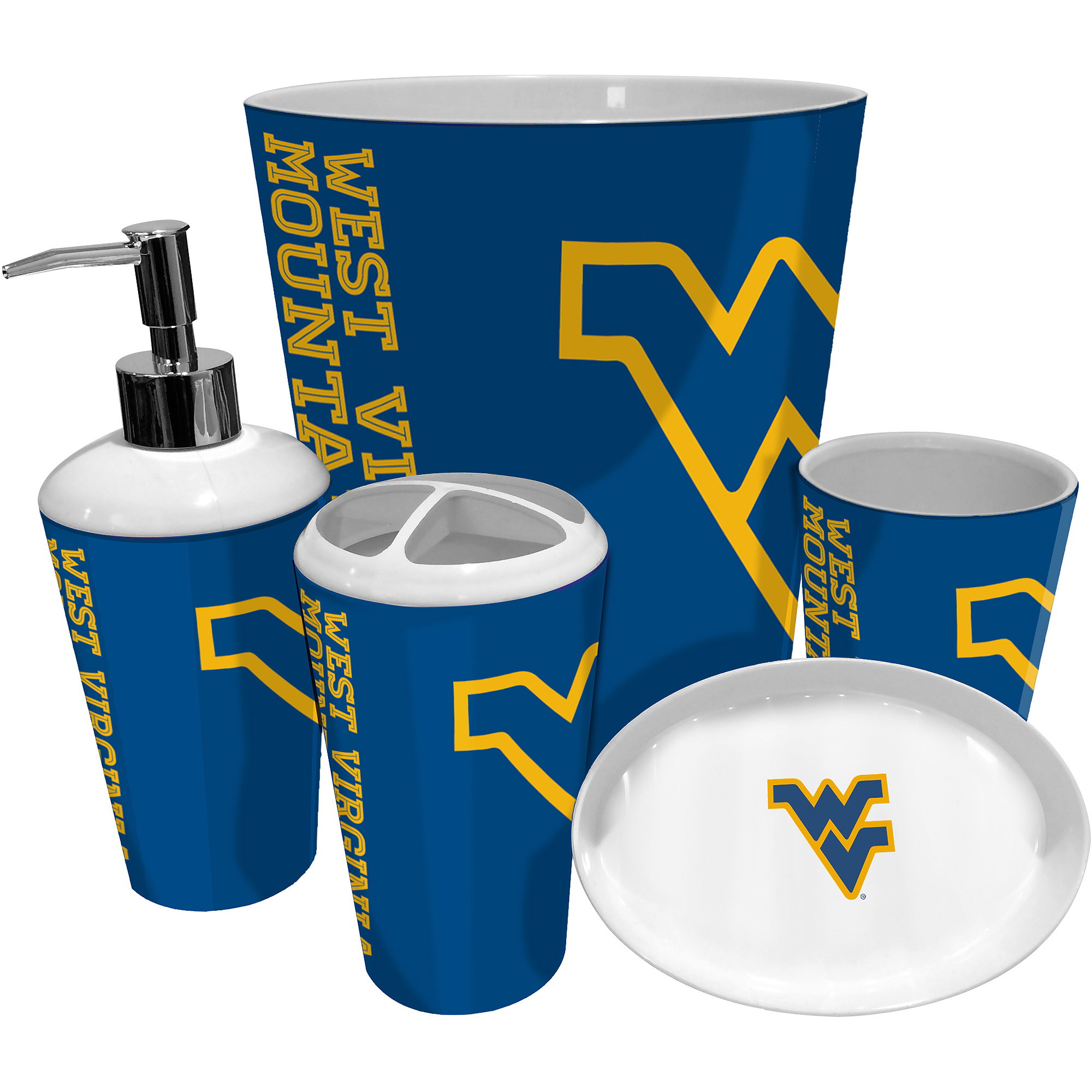 NCAA University of West Virginia Decorative Bath Collection - Bath Towel
