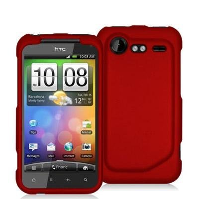 brand new a567d 114de Hard Rubberized Case for HTC Droid Incredible 2 - Red