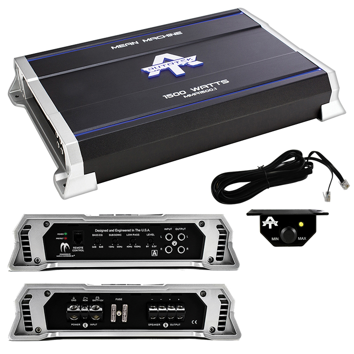 Autotek MMA1500.1 The Mean Machine Monoblock Amp, Class AB, 1,500 Watts
