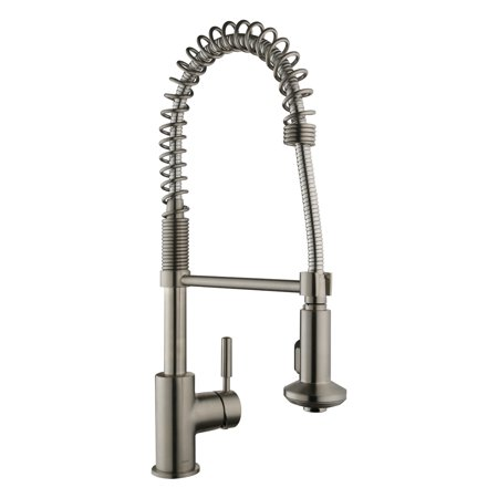 Keewi Kitchen Faucet Brushed Nickel, Commercial Kitchen Faucet with Pull  Down Sprayer, made with Solid Brass Body and Ceramic Disc Cartridge, met  all ...