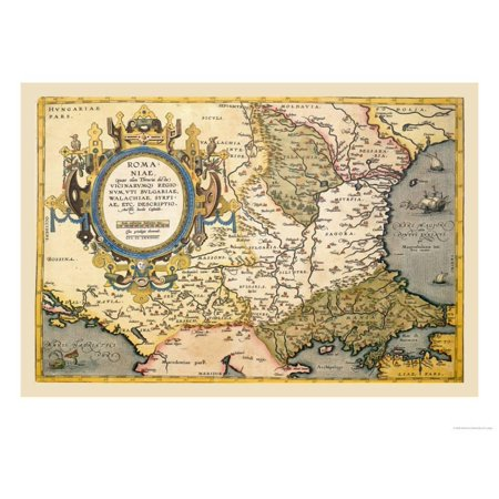 Map of the Balkans Print Wall Art By Abraham Ortelius