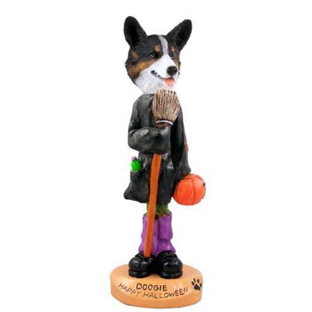 NO.DOOG51B31 Welsh Corgi Cardigan Happy Halloween Doogie Collectable Figurine - Happy Halloween Corgi