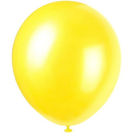 Pearlized Latex Balloons 12 In Golden Yellow 8ct Walmartcom