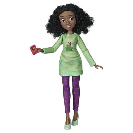 Disney Princess Comfy Squad Tiana, Ralph Breaks the Internet Movie Doll with Comfy Clothes and Accessories