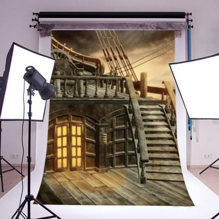 5x7ft Studio Photo Video Photography Backdrops Pirate Ship Printed Vinyl Fabric Party Decorations Background Screen Props (Background Party Decorations)