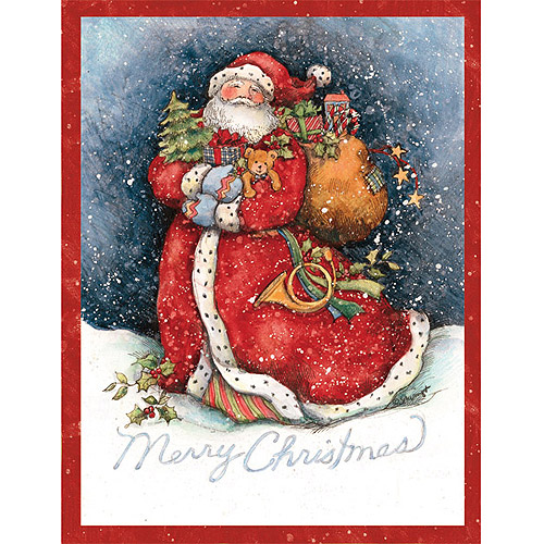 Lang Merry Santa Boxed Christmas Cards