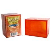 Box Card Game Dragon Shield Orange Deck Protector Durable Non Flexible Plastic Arcane Tinmen