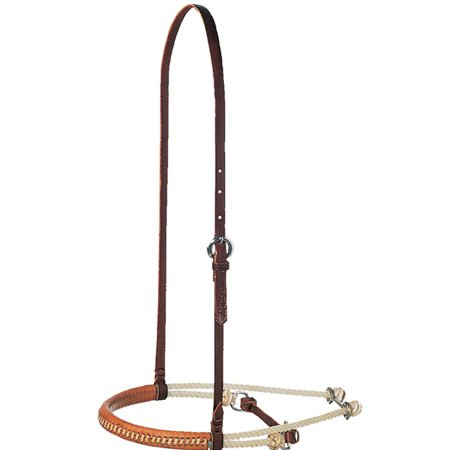Cavesson Bridle - Martin Saddlery Double Rope Horse Noseband with Cavesson