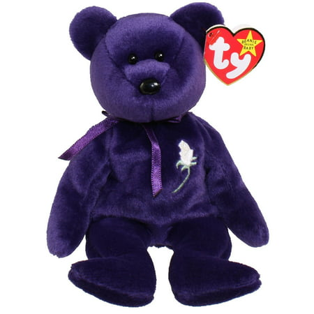 TY Beanie Baby - PRINCESS the Purple Bear (PE Version - 1997) (8.5 inch)