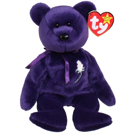 4f93353afad UPC 008421043002 product image for TY Beanie Baby - PRINCESS the Purple Bear  (PE Version ...