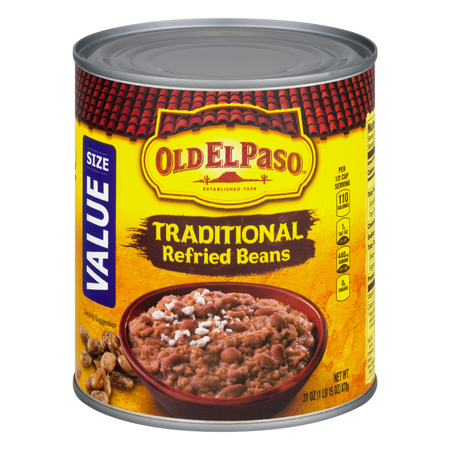 Old El Paso™ Traditional Refried Beans 31 oz Can