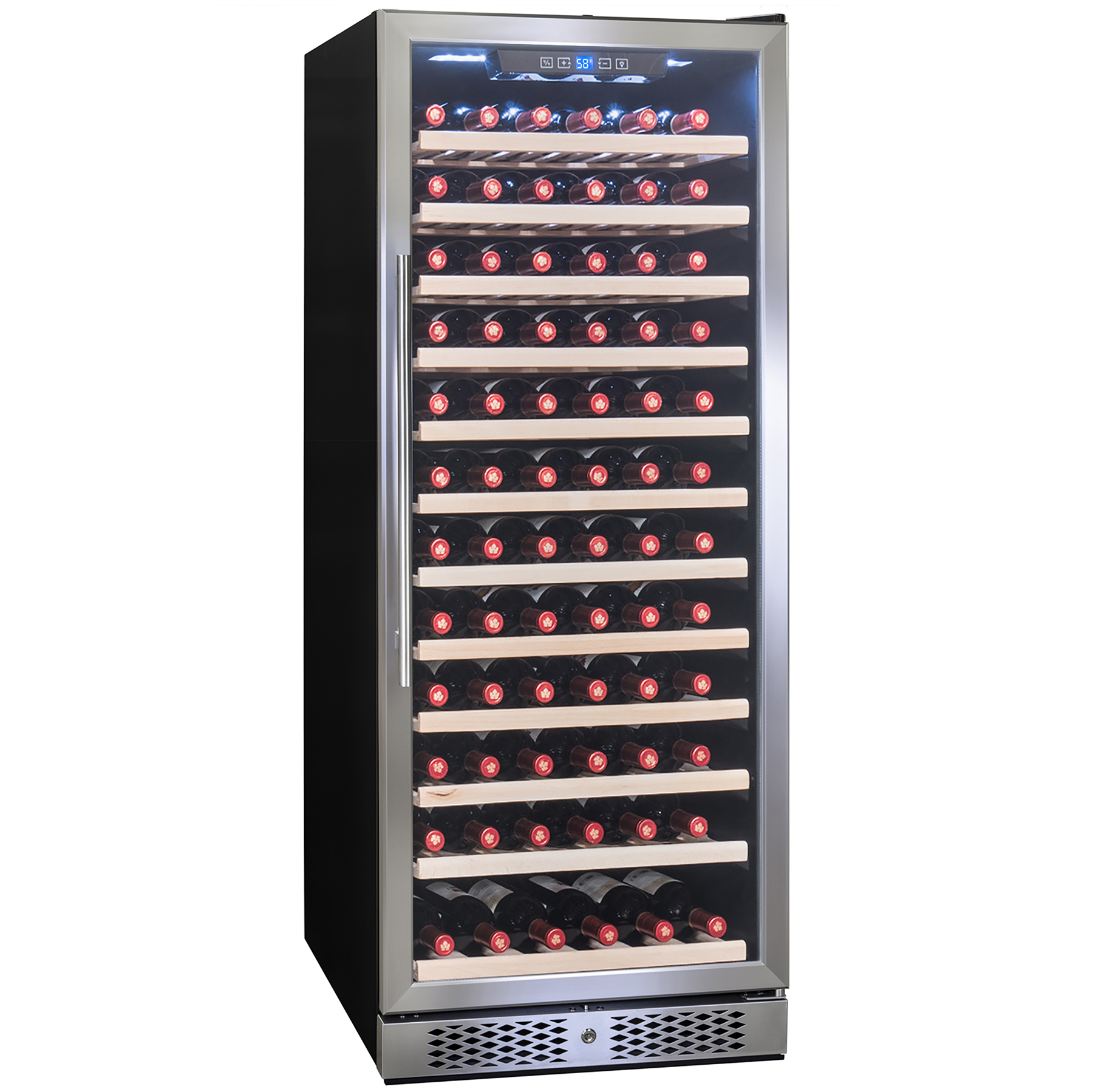 Image of AKDY 127 Bottle Single Zone Touch Control Compressor Freestanding Wine Cooler Chiller