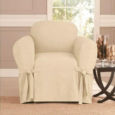 microsuede furniture slipcover sofa 70 x 140 beige