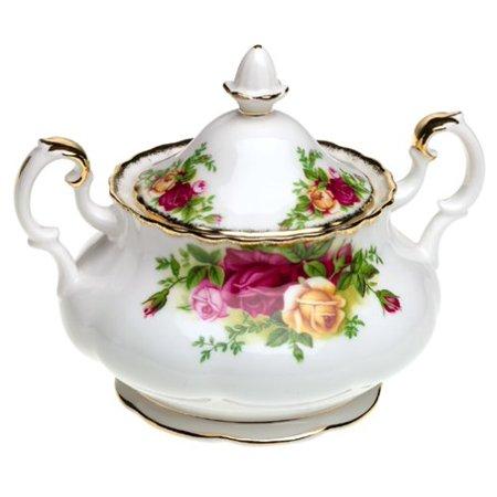 - Royal Albert Old Country Roses Covered Sugar Bowl