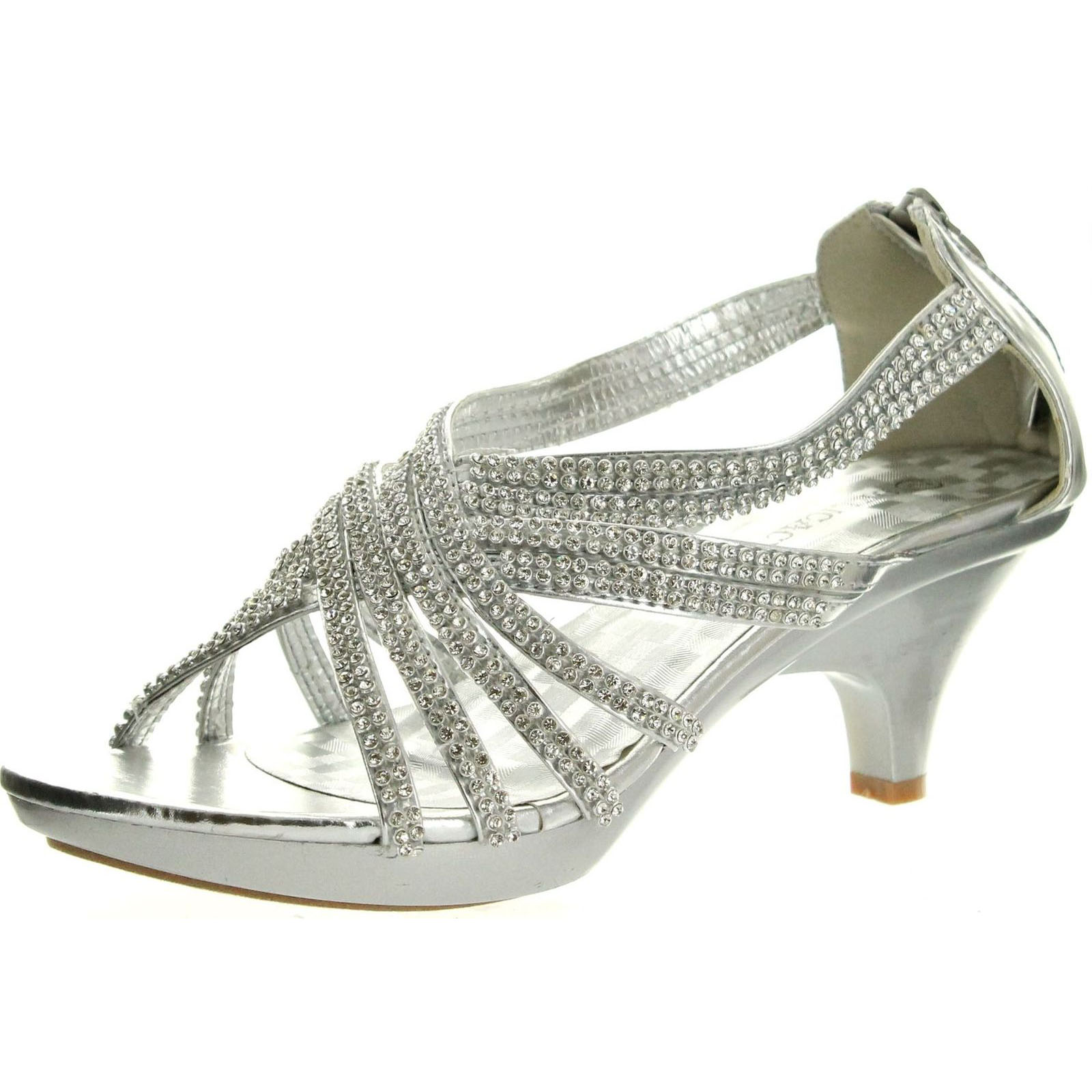 Delicacy Womens Angel-41 Rhinestones Embellished Strappy Sandals