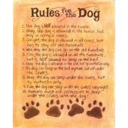 LPG Greetings Life Lines Rules For The Dog by Lori Voskuil-Dutter Textual Art Plaque