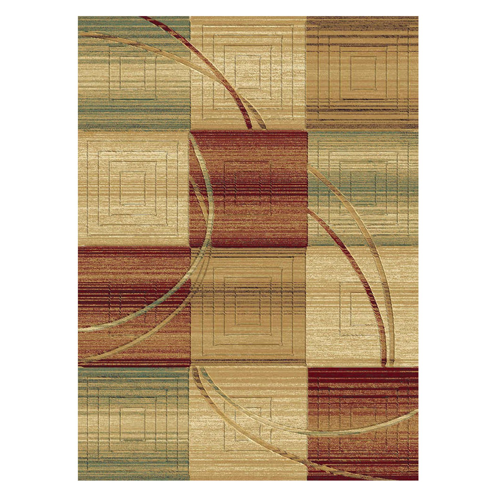 Central Oriental Shadows Carter Area Rug - Multi
