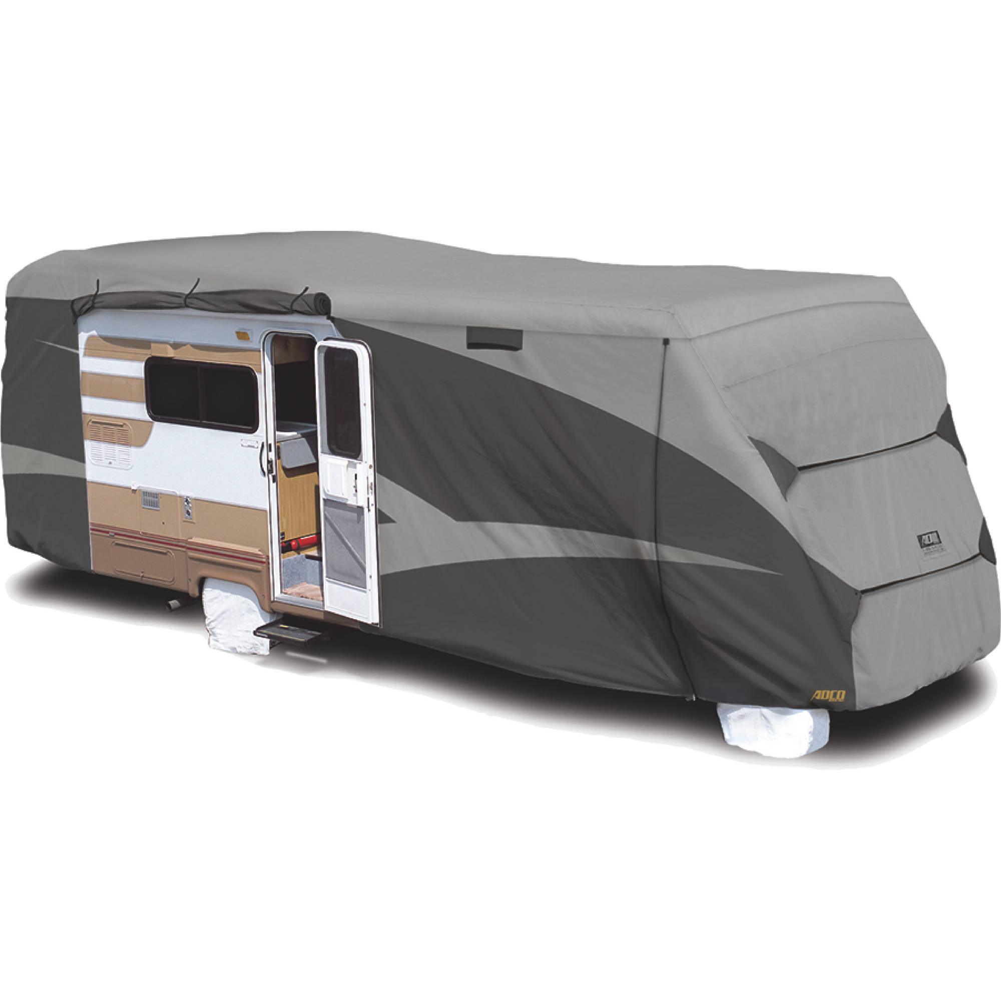 ADCO Class C Designer Series RV Cover, Gray SFS Aquashed Top/Gray Polypropylene Sides