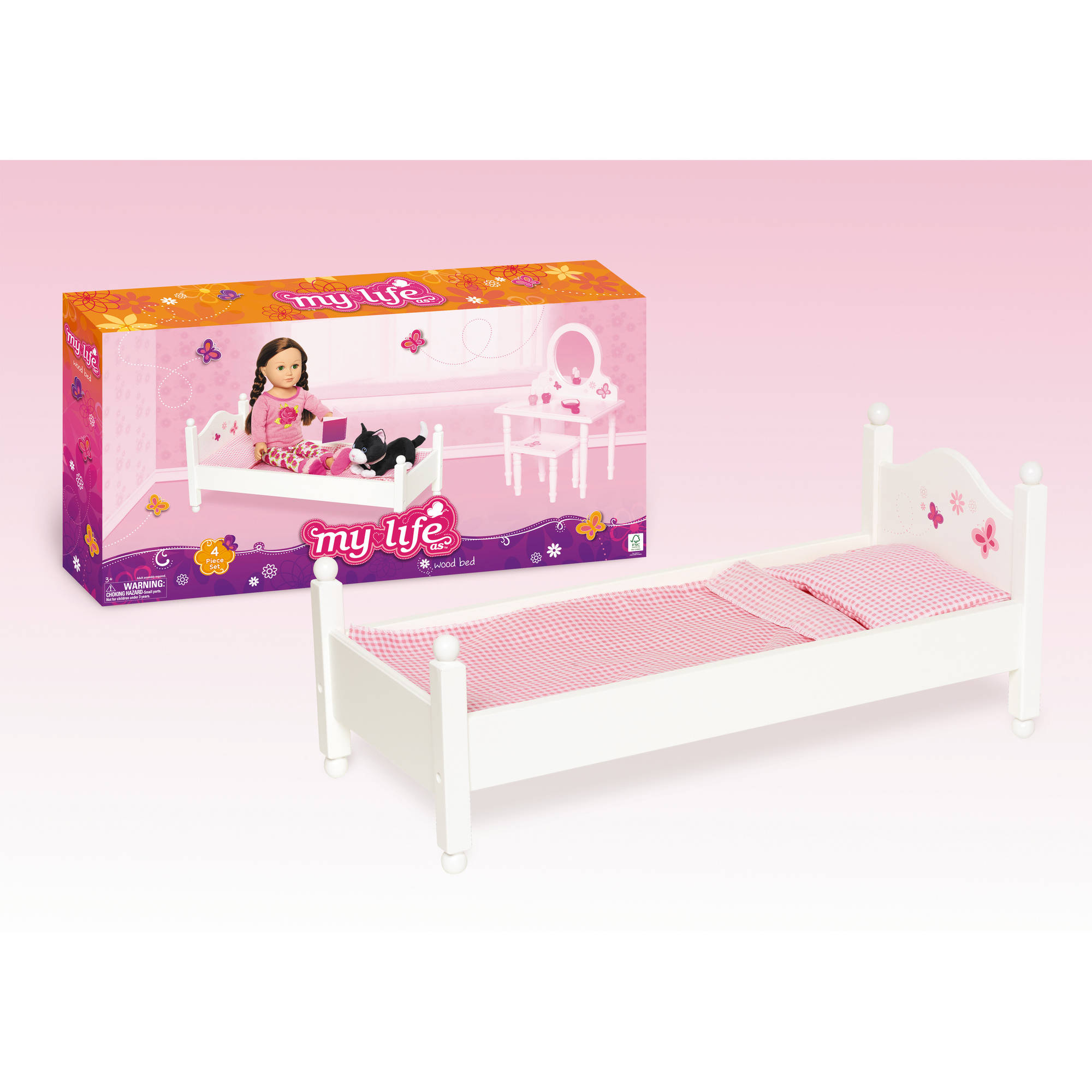 "My Life As My Life As 18"" Doll Furniture, Bed"