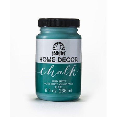 FolkArt Home Decor Chalk Grotto Dark Teal Acrylic Paint, 8 Fl. Oz. Acrylic Medium 8 Oz Bottle