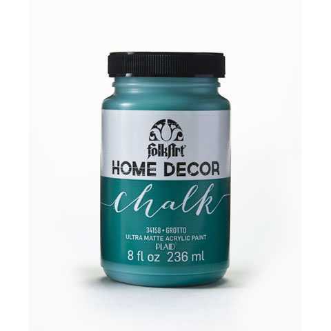 FolkArt Home Decor Chalk Grotto Dark Teal Acrylic Paint, 8 Fl. Oz.