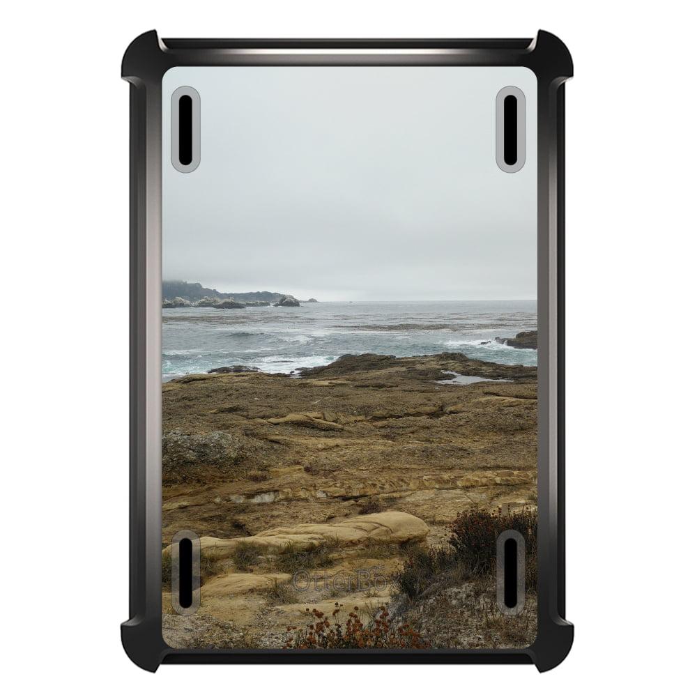 CUSTOM Black OtterBox Defender Series Case for Apple iPad Air 2 (2014 Model) - Ocean Horizon Point Lobos Carmel