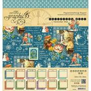 "Graphic 45 Children's Hour Calendar Pad 8""x8"""