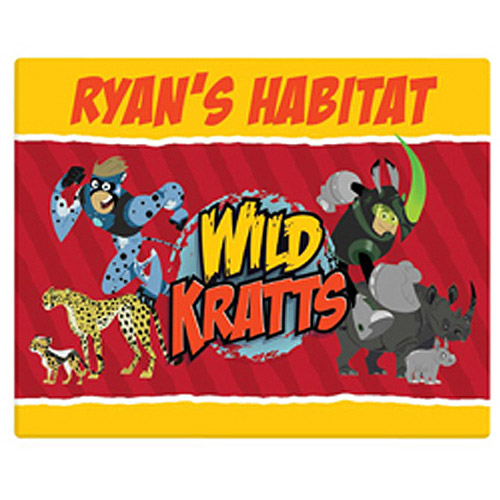 "Personalized Wild Kratts Creature Power 11"" x 14"" Canvas Wall Art"