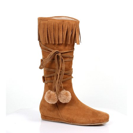 014-DAKOTA, Girls 1'' Heel Boot With Fringe and