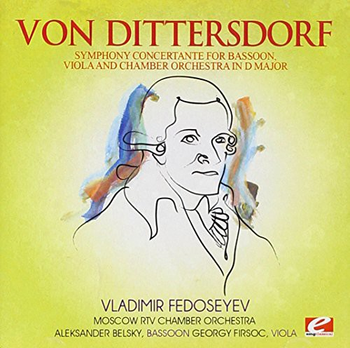Dittersdorf Symphony Concertante Bassoon Viola & Chamber Orch [CD] by Essential Media Group-Mod