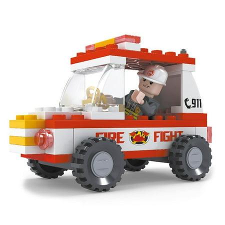 Brictek 21302 Fireman Jeep - Toy Firemen