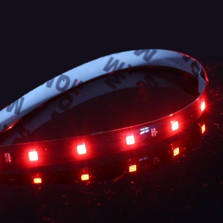 36 Inch Strip Fixture - 45-LED Strip Red 12V Flexible Self-Adhesive SMD 1210 3ft / 36-inch