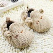 Ardorlove Kids Knitting Cartoon Mouse Crib Shoes Warm Elastic Baby Soft Shoes