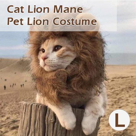 Cat Lion Mane Pet Lion Costume Pet Lion Hair Wig for Dogs Cats Pets Christmas Party (Lion's Mane Costume Wig)
