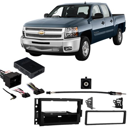 Fits Chevy Silverado Pickup 2012-2013 w/ OE NAV SDIN Harness Radio Dash Kit ()