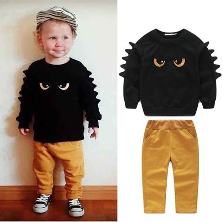 Cute 2pc Jumper Sweat shirt Top + Pant Clothes Set Baby Toddler Boy Outfit (Swirl Jumper Set)