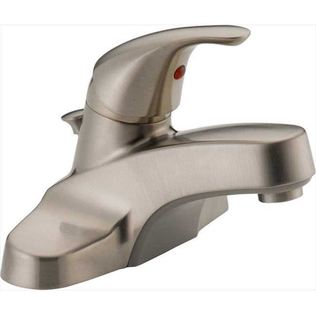 Classic Single Handle Centerset Bathroom Faucet with Lever Handle in Brushed Nickel - image 1 de 1