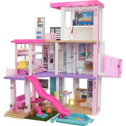 Barbie DreamHouse (3.75-ft) Dollhouse with Pool, Slide, Elevator, Lights & Sounds, New for 2021