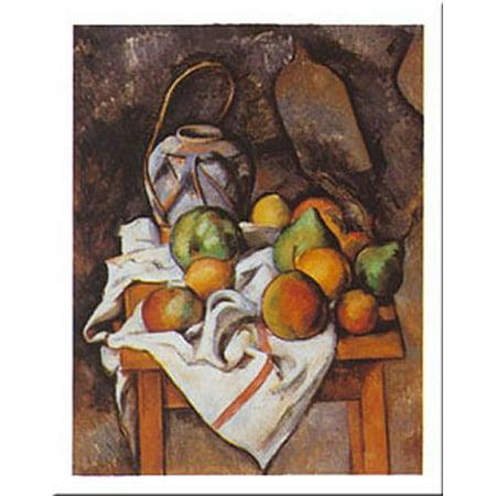 Le Vase Paille By Paul Cezanne 31x24 Art Print Poster Walmart