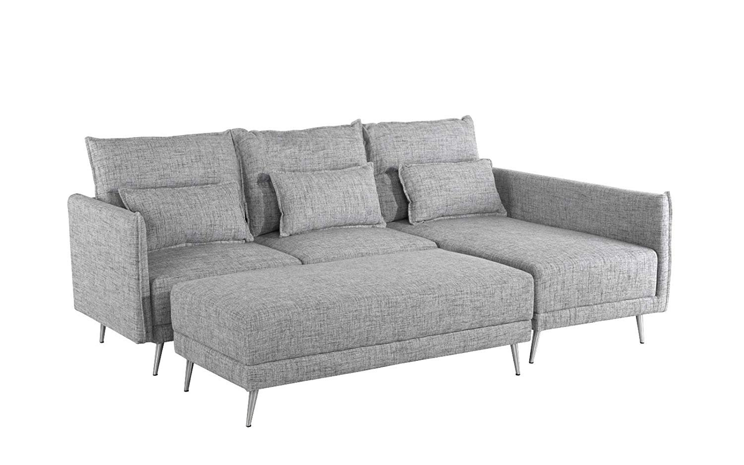 Sensational Upholstered 88 1 Inch Sectional Sofa L Shape Couch With Bralicious Painted Fabric Chair Ideas Braliciousco